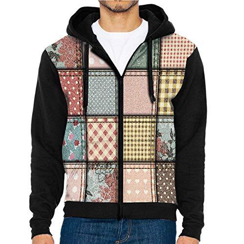 (3D Printed Hoodie Sweatshirts,Stitches Square Tile Digital,Hoodie Casual Pocket Sweatshirt)