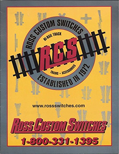 RCS Ross Custom Switches for Model Railroading Catalog - Hi-Rail Track - Trains - Accessories