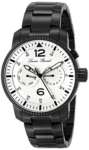 Lucien Piccard Mens Lp 13017 Bb 22  Expeditor  Black Ion Plated Stainless Steel Watch