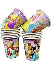 12 Pieces - Princesses Party Paper Cups -The Pack - Princesses Print cup Set