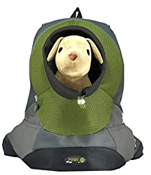 Wacky Paws Pet Backpack, Small, Olive