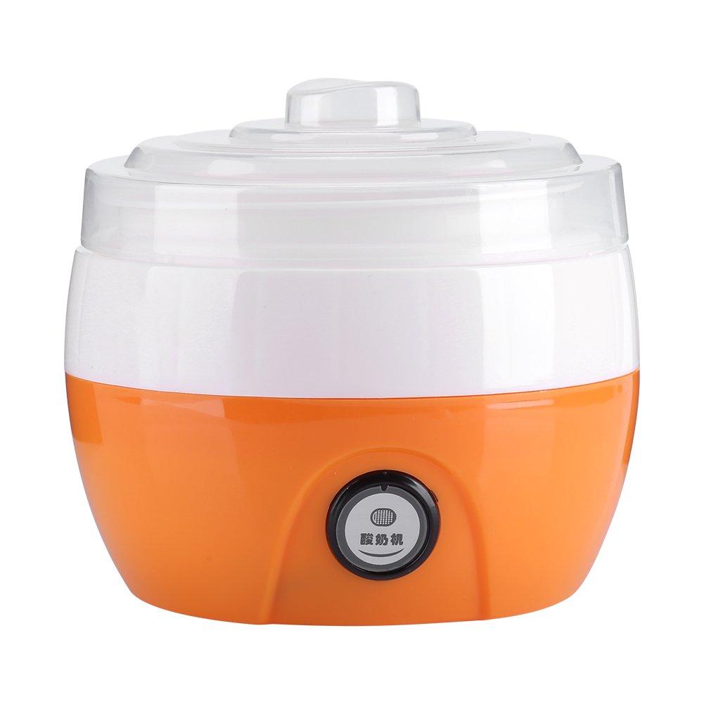 220V 1L Macchina yogurt automatico fatto in casa Maker Yogurt elettrico crema rendendo macchina Yogurt strumento fai da te(Arancione) Zerodis