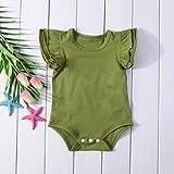 INHoney Baby Girl Basic Short Sleeve Ruffle