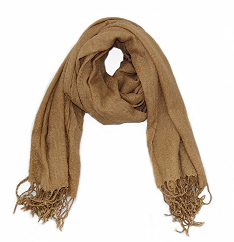 Fashion Scarf Long Winter - Soophen Pashmina Scarf Beautiful Solid Colors - Camel