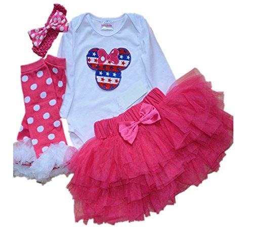 WINMI Baby Girls' 1st Birthday Tutu Outfit Newborn Minnie Mouse Party Dress (Blue L) (Minnie Mouse 1st Birthday Dress)