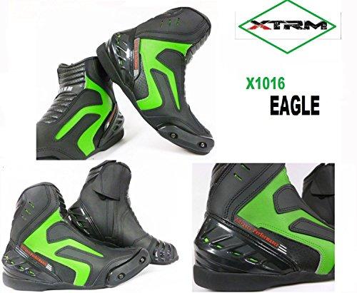 MOTORRADSTIEFEL PADDOCK XTRM X1016 SHORT EAGLE STADT STIEFEL TOURENSCHUHE ALLE FARBEN (45, GRüN)