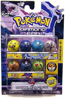 (Pokemon Jakks Pacific Marbles Series 2 Set #1 (Dialga, Manaphy, Palkia, Turtwig, Bonsly, Pikachu & Weavile))