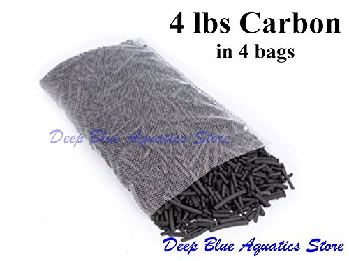 Perfect New Fish Tank Aquarium Media Filter 4 LBS Activated Active Carbon Charcoal with Nylon Mesh - Rio Carbon