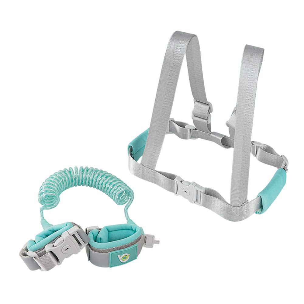 LYJHY Dual-use Anti-Lost with Traction Rope Baby Child Safety Belt to Prevent Children Lost Straps Anti-Lost Bracelet Anti-Lost Reflective Safety Rope Four Seasons Universal Size Adjustable (Blue)