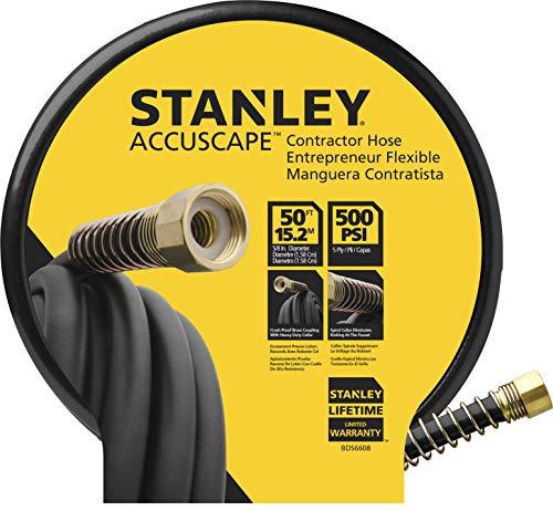 Stanley BDS6608 Contractor Grade Garden Water Hose, Black