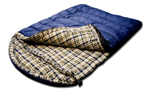 Grizzly 2 Person -25 Degree Rip Stop Sleeping Bag (Blue), Outdoor Stuffs