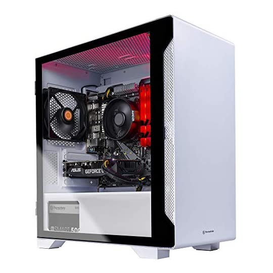 Thermaltake Glacier 160 Gaming PC (AMD Ryzen 5 3600, GTX 1660 Super, 16GB RGB 3000Mhz DDR4 ToughRAM RGB Memory, 500GB…