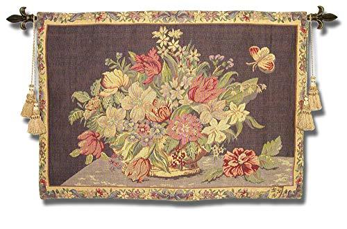 Flemish Bouquet - Gobelins Classic 17th Century Flemish Bouquet Floral Wall Hanging Art Tapestry Decor Still Life 27