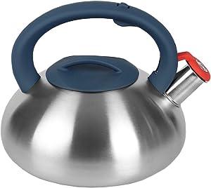 Home Basics TK37633 Tea Kettle, 2.7 Liters, Luna 2.7 Lt. Zinc