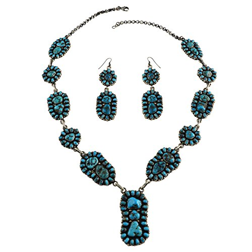 Indian Jewelry Turquoise Nugget (Emma Lincoln Sterling Silver Persian Turquoise Nugget Necklace Native American)