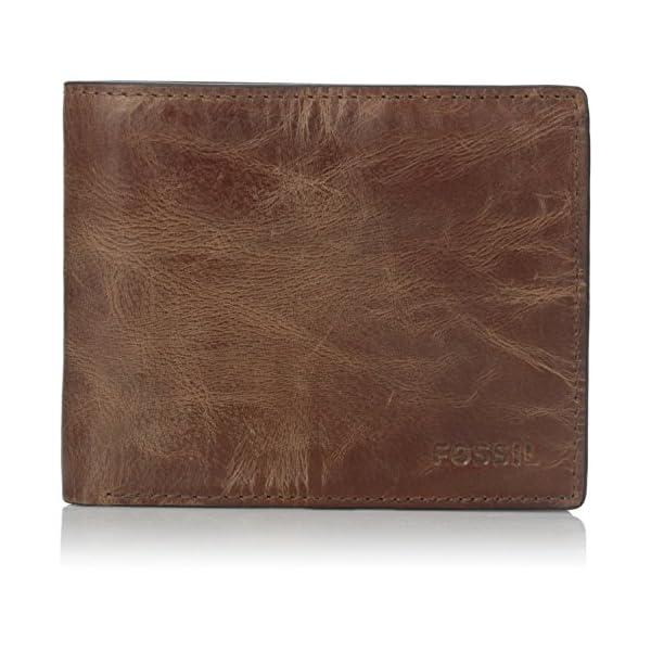 Fossil Men's RFID Flip ID Bifold Wallet, Brown, One Size