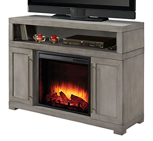 Muskoka 238-152-89 Mackenzie 48 inch Media Electric Fireplace in Light Weathered Grey Finish Mass