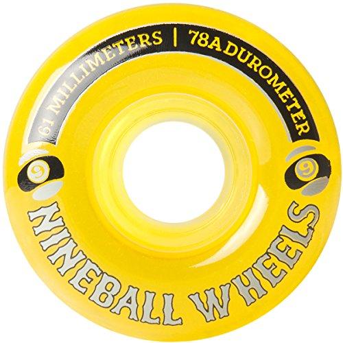 Sector 9 Nine Balls Skateboard Wheel, Yellow, 61mm 78A