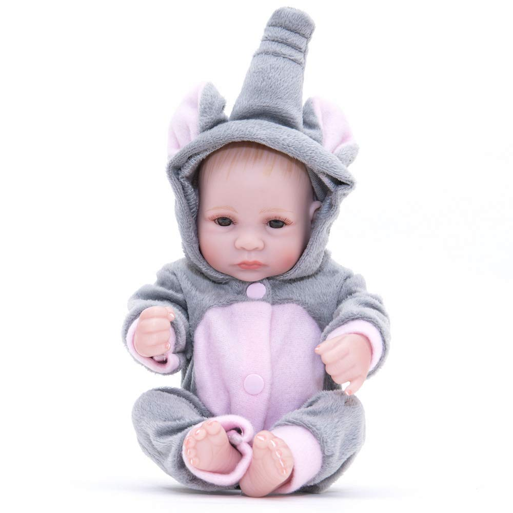 AFYH Rebirth Doll, Doll Simulation Baby - can take a Bath - Silicone Doll - Silicone Rubber, Child Growth Companion - Resistance to bite - Collection Art.