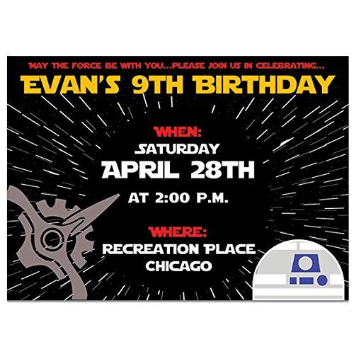 Image Unavailable Not Available For Color Star Wars Comic Birthday Party Invitations