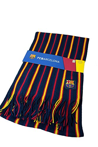 (FC Barcelona Authentic Official Licensed Product Soccer Scarf - 001)
