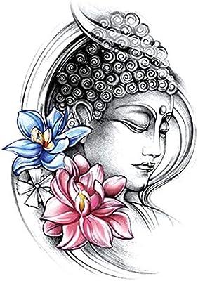 Etiqueta engomada del tatuaje del brazo de la flor medio brazo ...