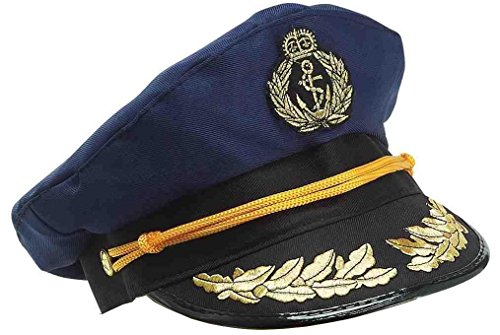 Forum Novelties Yacht Captains Hat for Adults, Navy