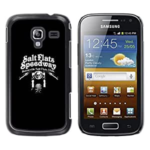 LECELL--Funda protectora / Cubierta / Piel For Samsung Galaxy Ace 2 I8160 Ace II X S7560M -- Speedway Motorcycle Black Biker --