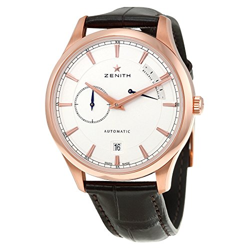 Zenith Captain Power Reserve Silver Dial 18kt Rose Gold Mens Watch 18212168501C498