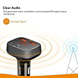 Roav by Anker, SmartCharge F0 FM Transmitter/Bluetooth Receiver/Car Charger Bluetooth 4.2, 2 USB Ports, PowerIQ AUX Output (No Dedicated App)