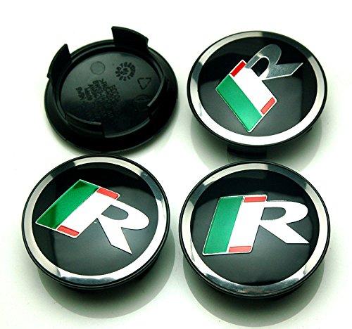 BENZEE 4pcs W303 58mm R Racing Car Emblem Badge Sticker Wheel Hub Caps Centre Cover JAGUAR XF XJ XJS XK S-TYPE X-TYPE by Benzee