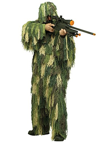 Fun World Men's Ghillie Suit Adult Costume, Multi,