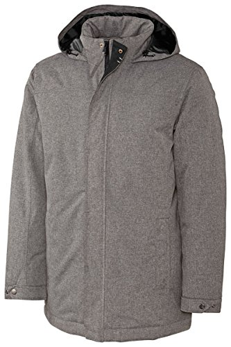 Cutter & Buck Men's Big and Tall Full Zip Jacket, Charcoal Heather, X-Large Tall by Cutter & Buck