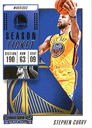 ff6ce5bae560b 2018-19 Panini Contenders Season Ticket #86 Stephen Curry Golden State  Warriors Basketball Card