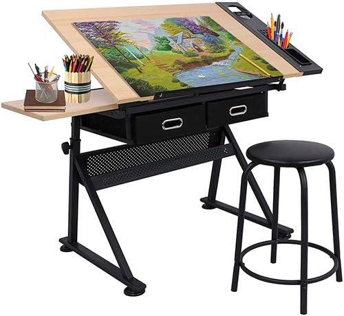 Amazon Com Homgarden Height Adjustable Drafting Desk Drawing