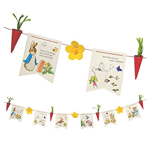Meri Meri, Peter Rabbit Party Garland, DIY Birthday, Party Decorations