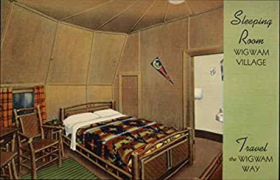 Sleeping Room, Wigwam Village Cave City, Kentucky Original Vintage Postcard