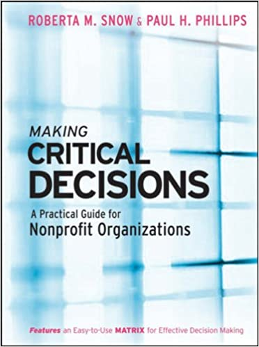 Making Critical Decisions: A Practical Guide for Nonprofit Organizations