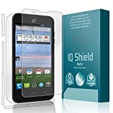 ZTE Solar Screen Protector, IQ Shield Matte Full Coverage Anti-Glare Full Body Skin + Screen Protector for ZTE Solar (Z795G) Bubble-Free Film - with