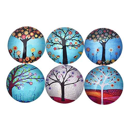 5Pcs/Set Colorful Life Tree Refrigerator Sticker Fridge Magnet Toy Glass Fridge Magnet 02 ()