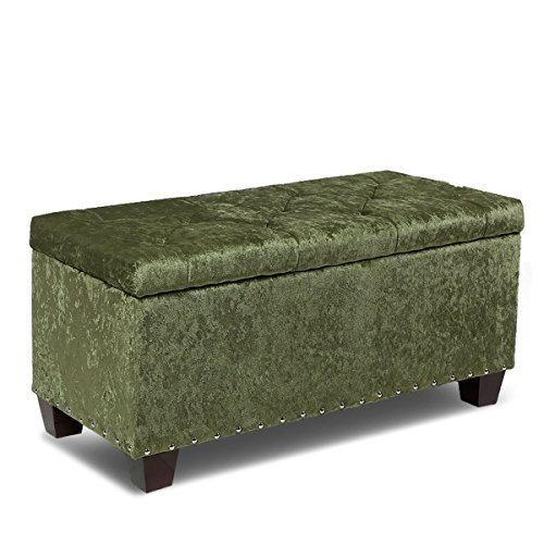Magshion Rectangular Storage Ottoman Bench Tufted Footrest Lift Top Pouffe Ottoman, Coffee Table, Seat, Foot Rest, and more