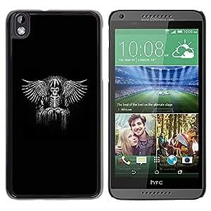 """For HTC DESIRE 816 Case , Vikingo Black Wings Ángel Trono Rey"""" - Diseño Patrón Teléfono Caso Cubierta Case Bumper Duro Protección Case Cover Funda"""