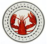 Clambake Plates Chargers for Lobster Dinner Lobster Design 12.5'' Diameter