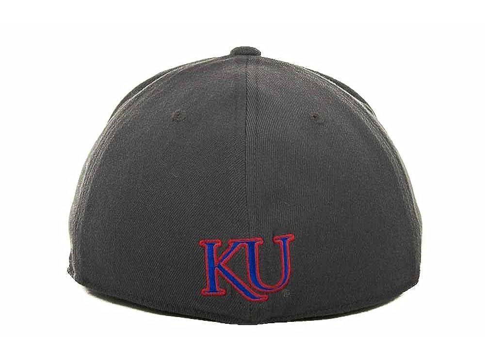 promo code a2782 21c89 Amazon.com  Kansas Jayhawks New NCAA Slam 1Fit Charcoal Flex Fit Hat  Medium Large M L  28  Clothing