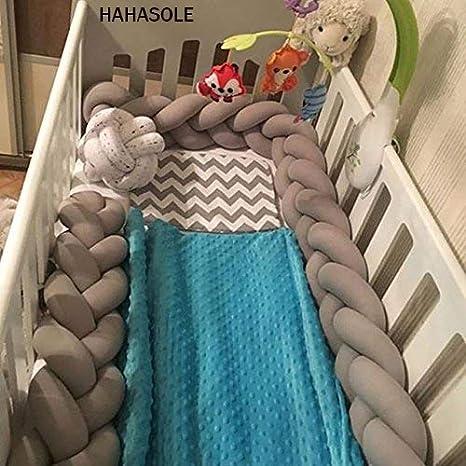 Amazon.com: Cojín de nudo trenzado para cuna de bebé: Baby