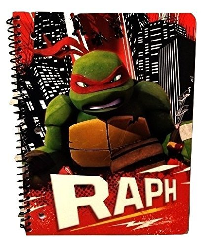 Teenage Mutant Ninja Turtle Boys Nickelodeon Leonardo Raphael Donatello Elementary Junior High Backpack Middle Composition Notebook Spiral A (Homemade Ninja Turtle Halloween Costumes)