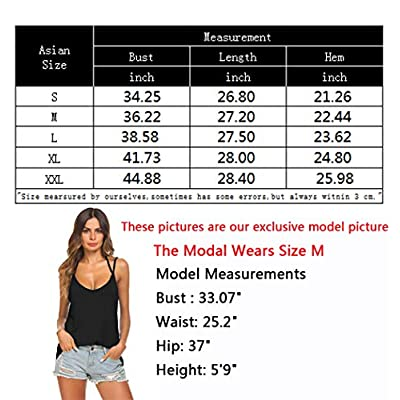 Tobrief Women's Sexy V Neck Halter Spaghetti Strap Backless Cami Tank Top at Women's Clothing store