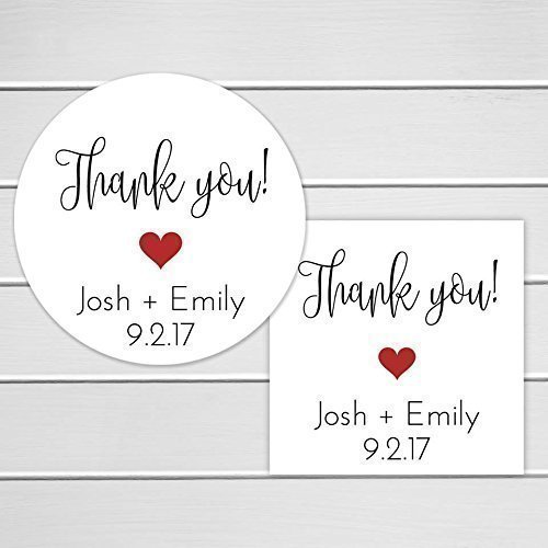 amazon com thank you stickers personalized wedding stickers thank