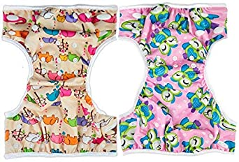 8-36lbs MooMoo Baby Swim Diapers 2 Pcs One Size Reusable /& Adjustable Diapers Swimming Lesson-Size N-5