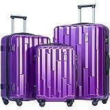Merax Luggage set 3 piece luggages Suitcase with TSA lock (Purple)